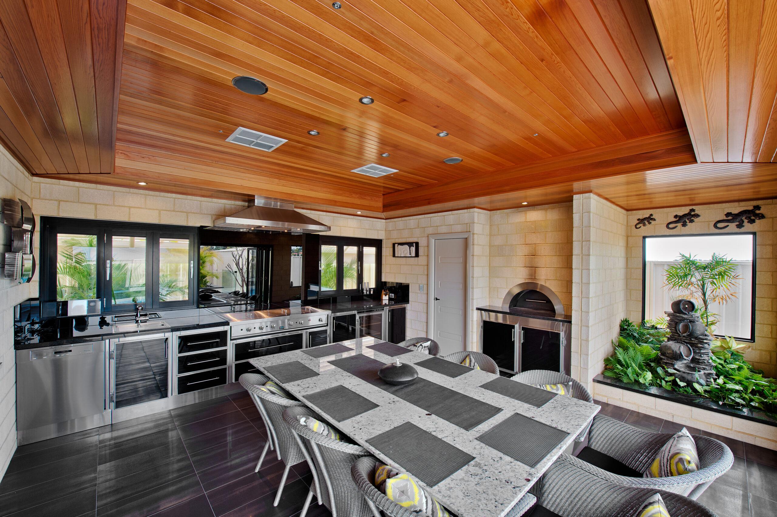 Outdoor Alfresco Kitchens Melbourne, indoor bbqs